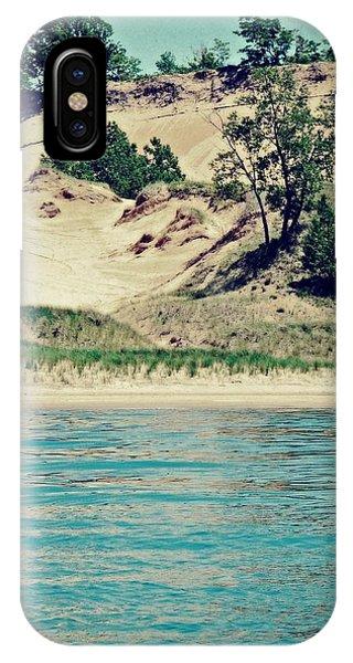 Antique Snapshot Series - Dunes On Lake Michigan IPhone Case