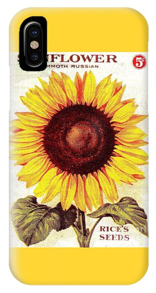 Antique Sunflower Seeds Pack IPhone Case