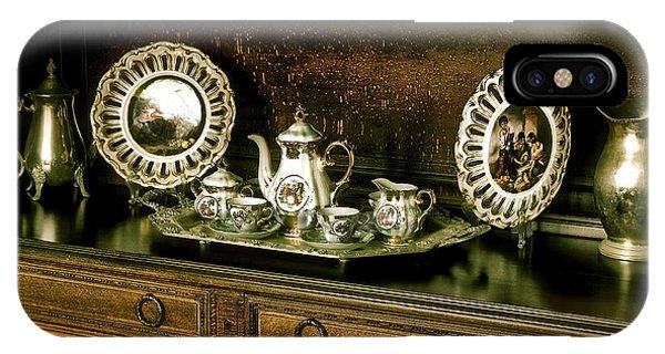Antique Tea Set IPhone Case