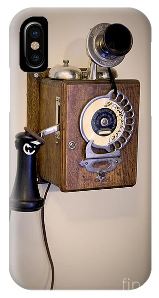 IPhone Case featuring the photograph Antique Telephone by David Millenheft