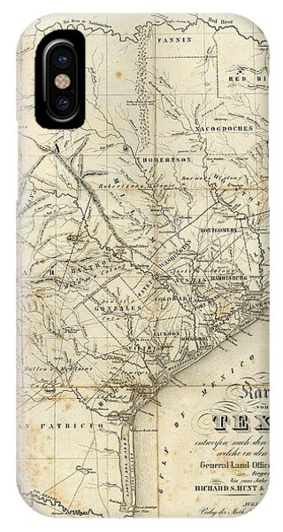 Antique Texas Map 1841 IPhone Case