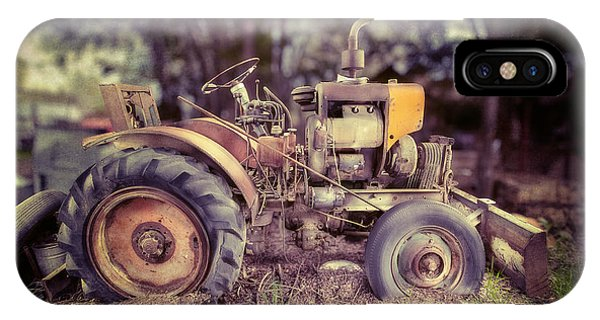 Farm Tool iPhone Case - Antique Tractor Home Built by Yo Pedro
