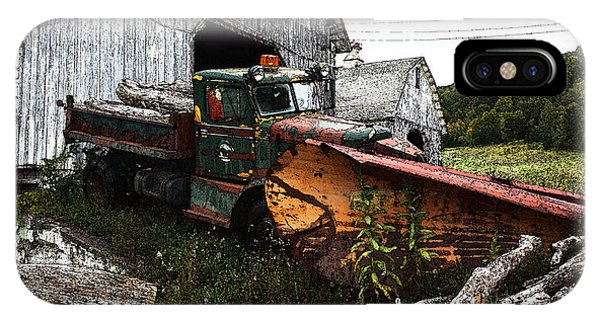 Antique Truck With Plow IPhone Case