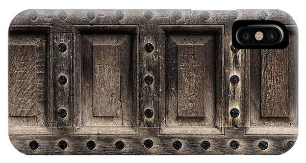 Antique Wooden Door Closeup IPhone Case