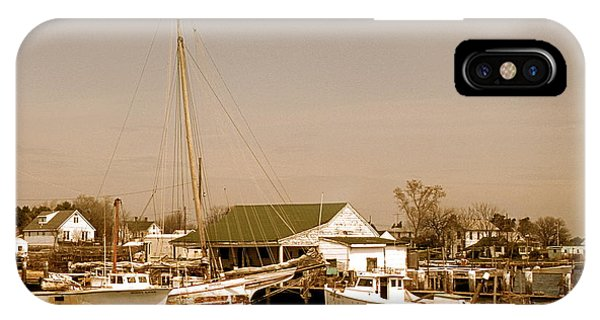 Skipjack iPhone Case - Antiques At Deal Island by Skip Willits