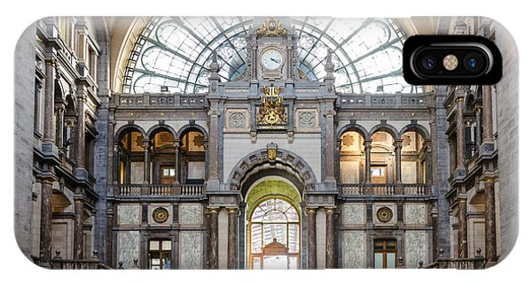 Antwerp Central Station IPhone Case