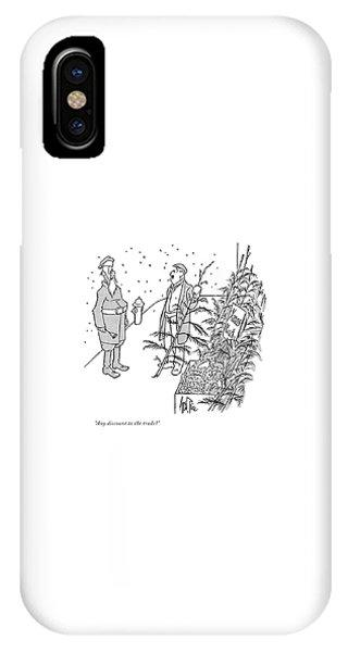 Christmas Tree Shop IPhone Case