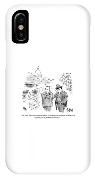 Capitol Building iPhone Case - Anything You Say Or Do May Be Used by Christopher Weyant