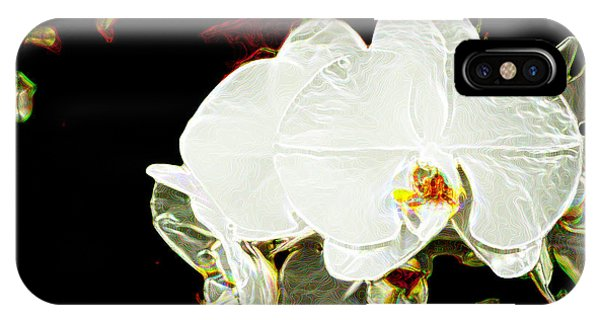 Aos White Orchid 1 IPhone Case