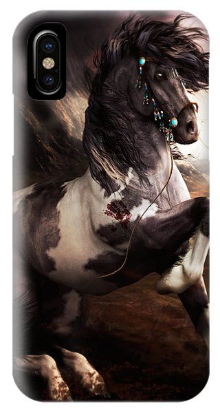 Wild Horses iPhone Case - Apache Blue by Shanina Conway