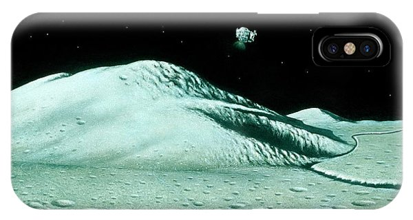 Departure iPhone Case - Apollo 15 Departs The Moon by David Hardy/science Photo Library