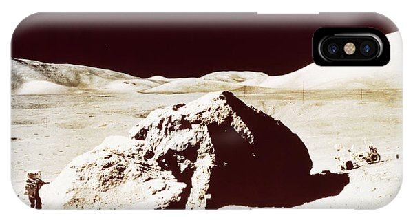 Harrison iPhone Case - Apollo 17 Astronaut On The Moon by Nasa/science Photo Library