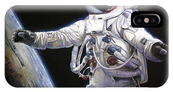 Nasa iPhone Case - Apollo 9 - Schweickart On The Porch by Simon Kregar