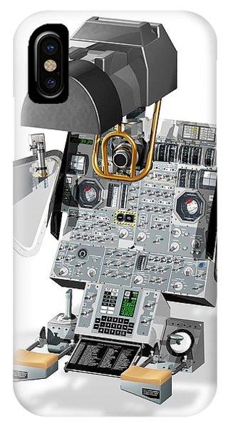 Navigation iPhone Case - Apollo Lunar Module Navigation Controls by Carlos Clarivan/science Photo Library