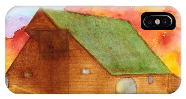 Appalachian Barn In Autumn IPhone Case
