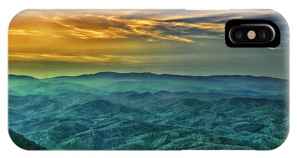 Appalachian Mountain Sunset IPhone Case