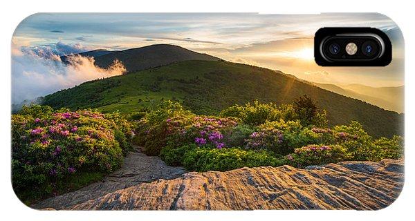 Appalachian Trail Sunset North Carolina Landscape Photography IPhone Case