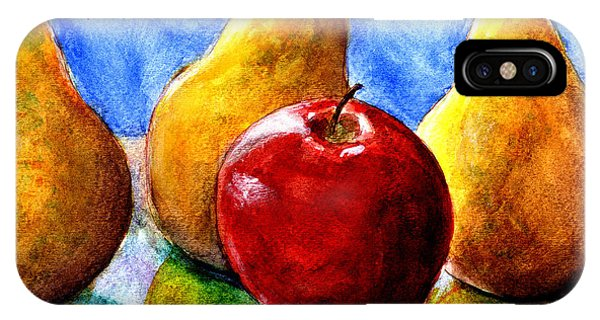 Apple And Three Pears Still Life IPhone Case