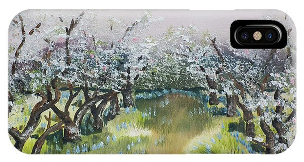 Apple Blossoms In Ellijay -apple Trees - Blooming IPhone Case