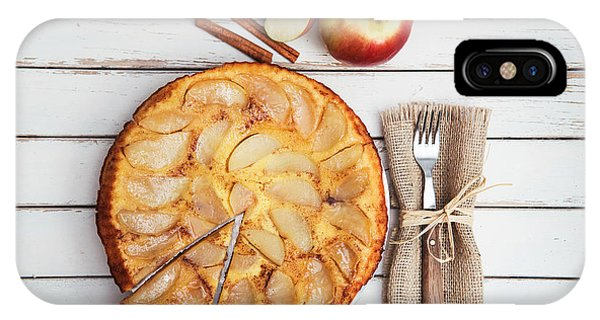 Autumn iPhone X Case - Apple Cake by Viktor Pravdica