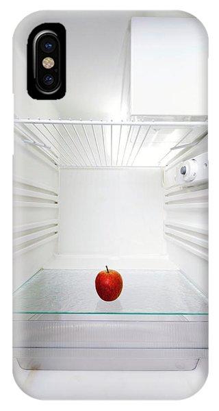 Well Being iPhone Case - Apple In Fridge by Wladimir Bulgar