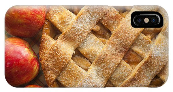 Apple Pie With Lattice Crust IPhone Case