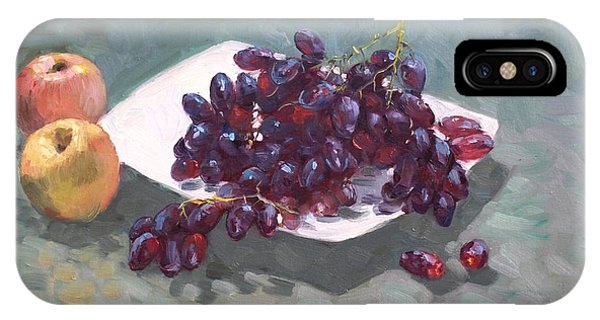 Grape iPhone X Case - Apples And Grapes by Ylli Haruni