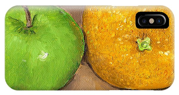iPhone Case - Apples And Oranges Painting by