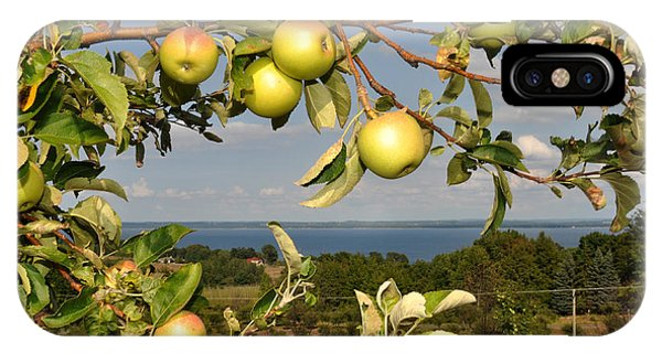 Apples Over Grand Traverse Bay IPhone Case