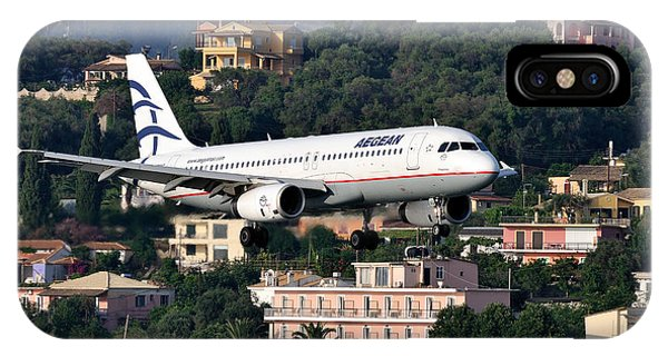 Approaching Corfu Airport IPhone Case