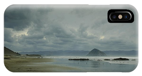 Approaching Storm - Morro Rock IPhone Case