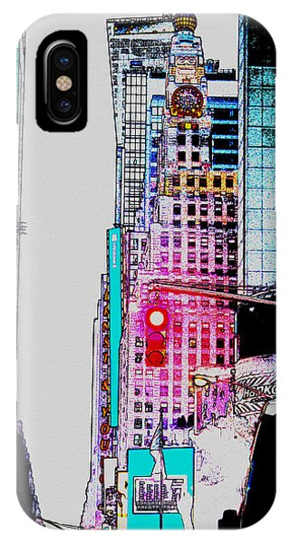 Crossroads Of The World iPhone Case - Approaching Times Square by Teresa Mucha