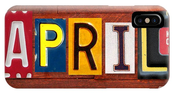 April License Plate Name Sign Fun Kid Room Decor IPhone Case