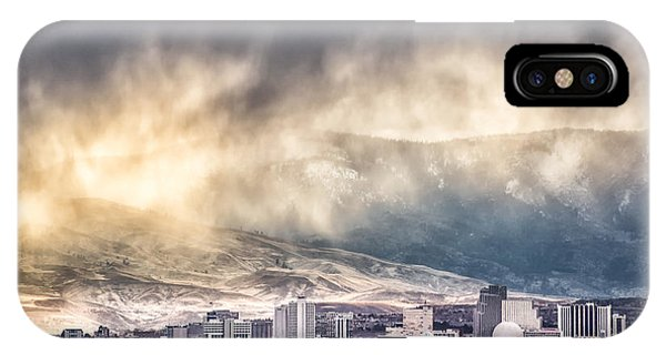 April Showers Over Reno IPhone Case