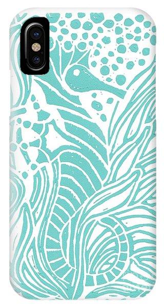 Aqua Seahorse IPhone Case