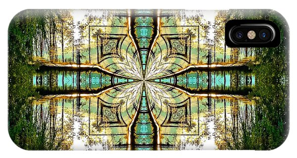 Kaleidoscope Aqua Sunrise IPhone Case
