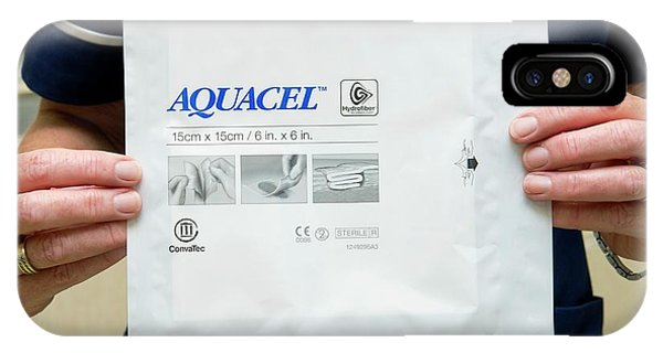 Dressing iPhone Case - Aquacel Wound Dressing by Dr P. Marazzi/science Photo Library