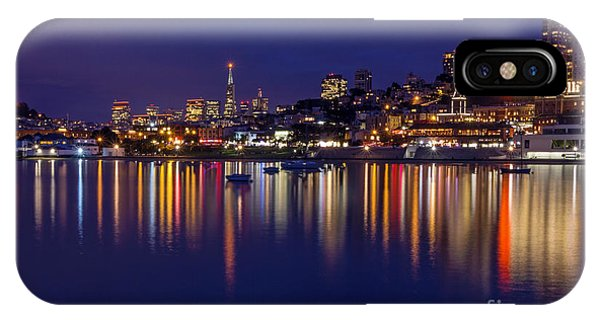 IPhone Case featuring the photograph Aquatic Park Blue Hour Wide View by Kate Brown