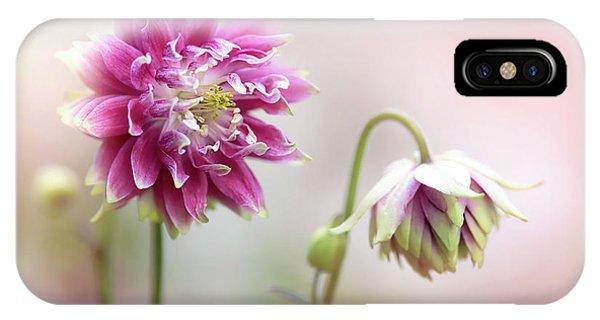 Flower Gardens iPhone Case - Aquilegia Flowers by Jacky Parker