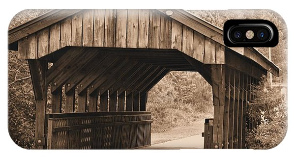 Arabia Mountain Covered Bridge IPhone Case