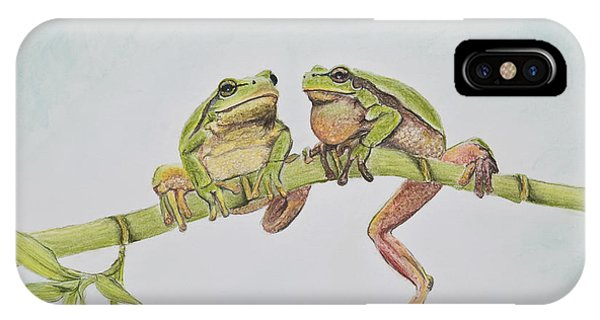 Arboreal Frogs In Pastel IPhone Case