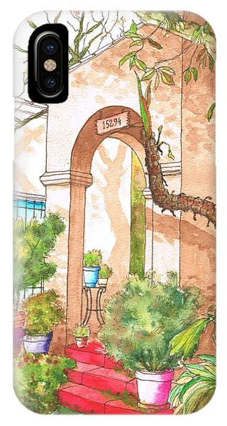 Arc And Red Stairs In Hollywodd - California IPhone Case