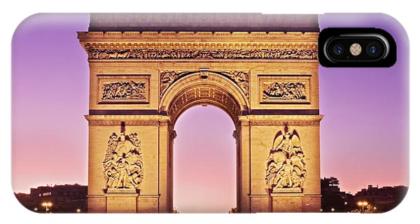 IPhone Case featuring the photograph Arc De Triomphe Facade / Paris by Barry O Carroll