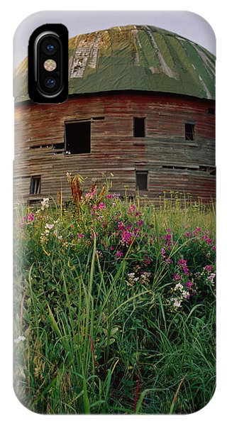 Arcadia Round Barn And Wildflowers IPhone Case