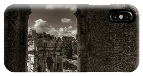 Arch Of Constantine From The Colosseum IPhone Case
