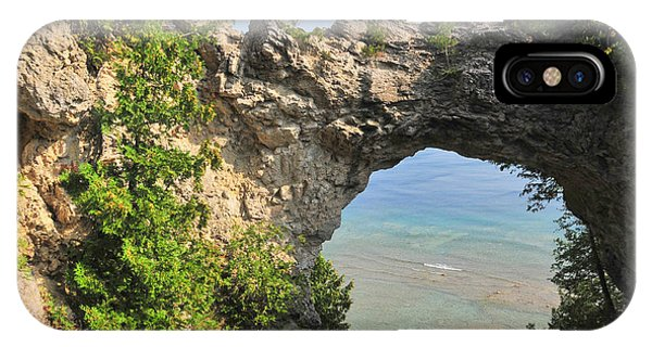 Arch Rock In Mackinac Island State Park IPhone Case