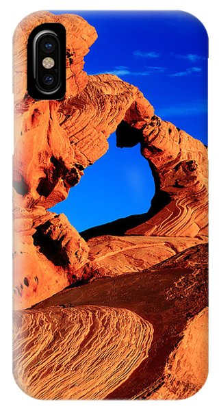 Arch Rock In The Valley Of Fire IPhone Case