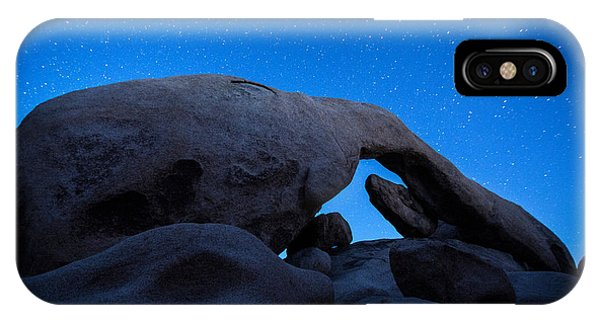 Sandstone iPhone Case - Arch Rock Starry Night 2 by Stephen Stookey