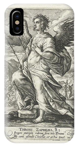 Archangel Zaphkil, Print Maker Crispijn Van De Passe IPhone Case