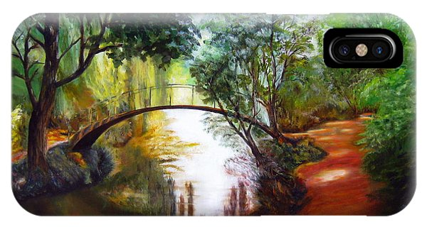 Arched Bridge Over Brilliant Waters IPhone Case